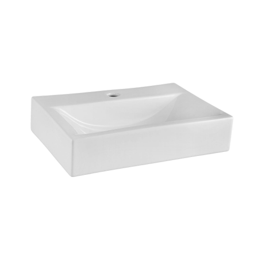 Cubi Rectangular 450mm Vessel Basin - 1 Tap Hole - 253812920111